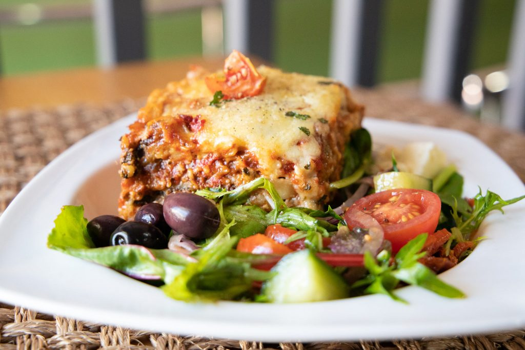 Hot Food Served with Delicious Salads