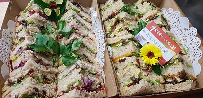 Catering Sandwiches by Natural Temptation Cafe